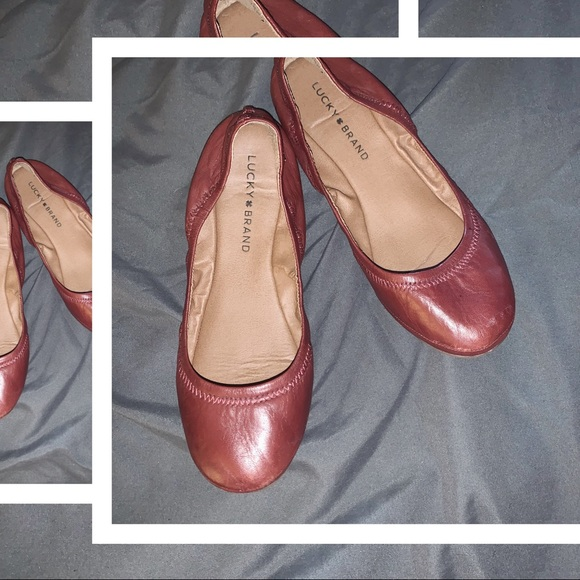 Lucky Brand Shoes - 🖤2/$22 Lucky Brand - Emmie Maroon Ballet Flat 6.5